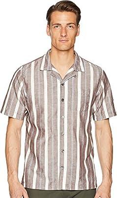 Todd Snyder Mens Short Sleeve Wide Stripe Shirt