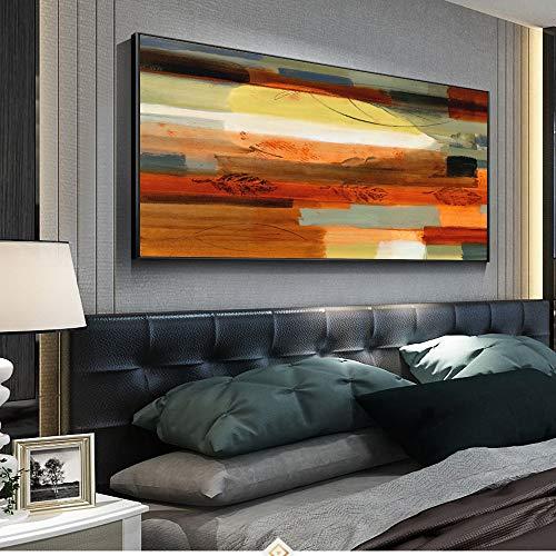 YHZSML Abstrakt Wandkunst Leinwanddrucke Golden Point Pop Art Leinwandbilder Wandposter Und Drucke Für Schlafzimmer Bilder Wanddekor 2 40x80 cm
