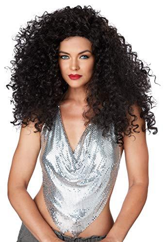 Générique - Pe208 - Perruque Disco Diva Noir - Taille Unique