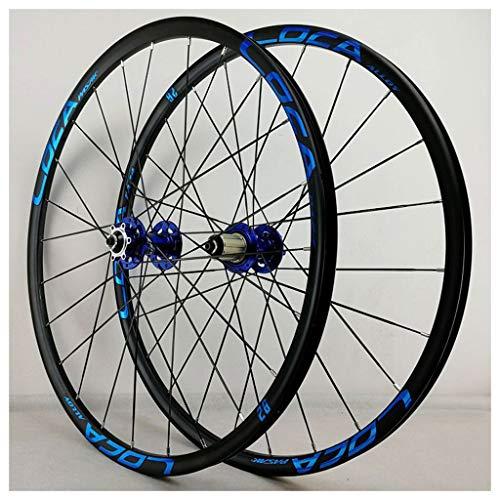 27.5 Pulgadas 26 Pulgadas 27.5 Er MTB Bike de Bicicleta Wheelset, Double Wall Freno Disco Liberación Rápida 32 Hoyos 8 9 10 11 Velocidad Cassette Compatible Ruedas (Color : D, Size : 27.5 Inch)