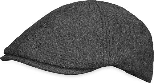 normani Unisex Sommer Gatsby Cap Baskenmütze Schiebermütze Schirmmütze Beret Herren Damen Verstellbar Kappe Farbe Dunkelgrau