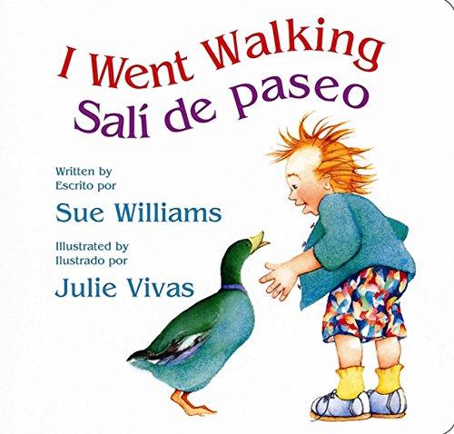 I Went Walking/Sali de paseo: Lap-Sized Board Book (Spanish and English Edition)