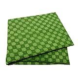 PEEGLI Tela De Seda Impresa Sari Verde De La Vendimia Mezcla Tela De Cortina Reciclada DIY Sari India