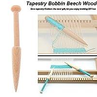 1PCDIY織りツール木織りセータースカーフタペストリーボビンスティックシングルヘッドソリッドかぎ針編みフックDIY織機ツール