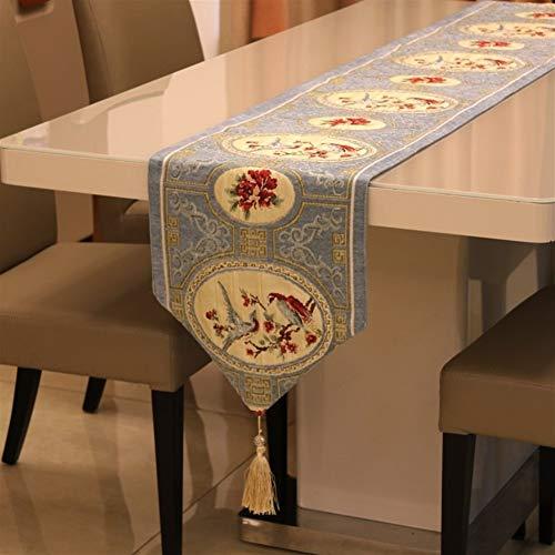 Squisito runner da tavolo Nuevo chino estilo de tabla de los corredores clásicos Aves Flores Tabla Bandera cubierta Tabla de chenilla Mesa de comedor Decoración de la boda per feste, ristoranti e atti
