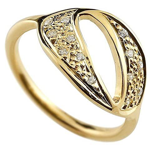 [アトラス]Atrus リング メンズ 10金 イエローゴールドk10 キュービックジルコニア ナンバー0 指輪 数字 ストレート 29号