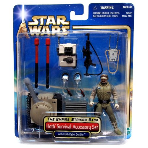 Hasbro Hoth Survival Accessory Set with Rebel Soldier The Empire Strikes Back - Star Wars Saga Collection 2004
