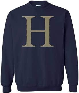 H Crewneck Sweatshirt (Navy, X-Large)