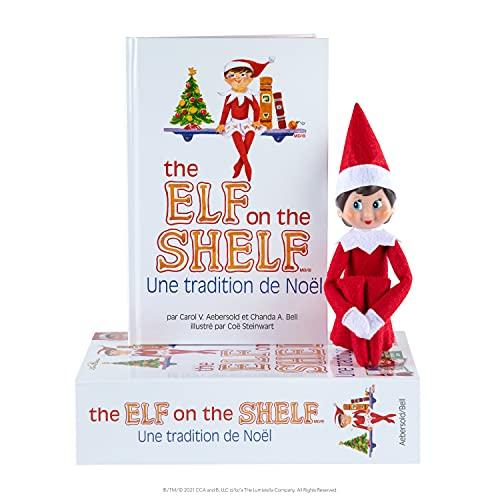 The Elf on the Shelf®: Une Tradition de Noël (Fille) Livre en Francais Christmas Tradition - Girl Light Skin & Blue Eyes (French)
