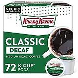 Krispy Kreme Classic Decaf, Single-Serve Keurig K-Cup Pods, Medium Roast Coffee Pods, 72 Count