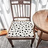 Cojín de asiento de espuma viscoelástica, estampado de diamante negro abstracto, tela duradera, cojín cuadrado universal, cubierta de silla de decoración del hogar