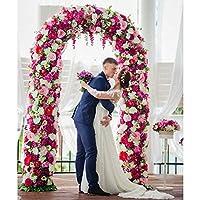 ホワイトメタルウェディングアーチパーゴラガーデンの背景には、花のフレーム花のアーチをスタンド