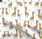 Giraffe, Zoo, Safari, Tier, Afrika, Hübsch, Herz Stoffe -