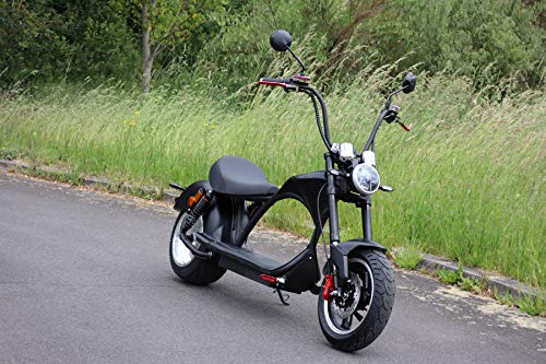 havalime Elektro Scooter Coco Bike E-Chopper, Straßenzulassung, Bis zu 48 km/h schnell - ca. 50 km Reichweite, 2000 Watt - 60V 20Ah Li-Ion Akku wechselbar
