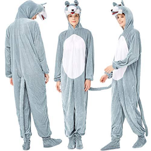 Xmansky Karnevalsparty Fancy Festival Zubehör,Frauen Adult Pyjamas Tierkostüm Cosplay Halloween Anzug Kleidung