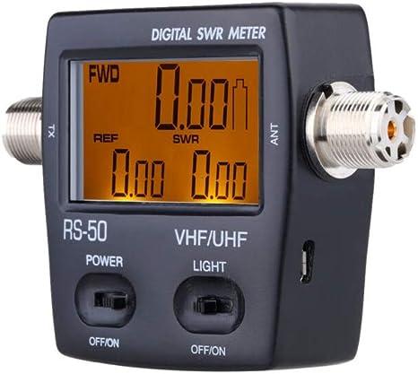 Nissei - Vatímetro digital RS-50 (VHF y UHF) RS-70 (HF + 6m), lectura de potencia directa, reflejada y ROE