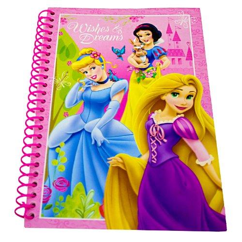 Princesa de Disney A5 Deseos y sueños Chicas alambre espiral Cuaderno - Rosa
