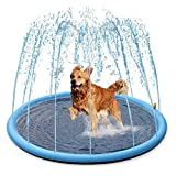Splash Sprinkler Pad for Dogs Kids - 59' Thicken Dogs Pet Kids Swimming Pool Bathtub, 2020 New Pet Summer Backyard Playset & Water Toys, Gift for Kids, Toddlers and Dogs