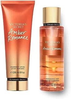 Set Victoria Secret Amber Romance Body Mist 250 ML + Crema 236 ML