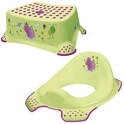 Keeeper 2-teiliges Set HIPPO Schemel einstufig & WC-Sitz/Toilettensitz lime green