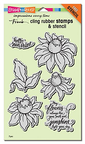 Stampendous CRS5104 Cling Coneflower W/Template