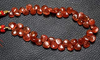 Jewel Beads Natural Beautiful jewellery 1 Strand Natural 9 Inch Strand Super Finest-Quality- SUNSTONE Smooth Heart Shape Beads Briolettes 8 TO 10 MMCode:- JBB-3598