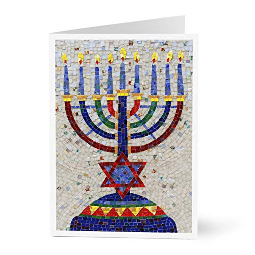 Hallmark Business Hanukkah Card for Employees and Customers (Mosaic Menorah) (Pack of 25 Greeting Cards)
