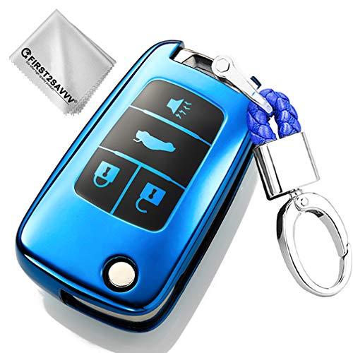 Azul Funda para Llave Smart Key para Coche Chevrolet Equinox Camaro Cruze Malibu Sonic Volt Park 4-B