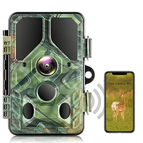 WLAN Wildkamera 20MP 1296P Bluetooth WiFi Wildlife Jagdkamera 940nm IR Nachtsicht Jagd Wildkamera , Überwachungswinkel Bewegungserkennung IP66 Wasserdicht
