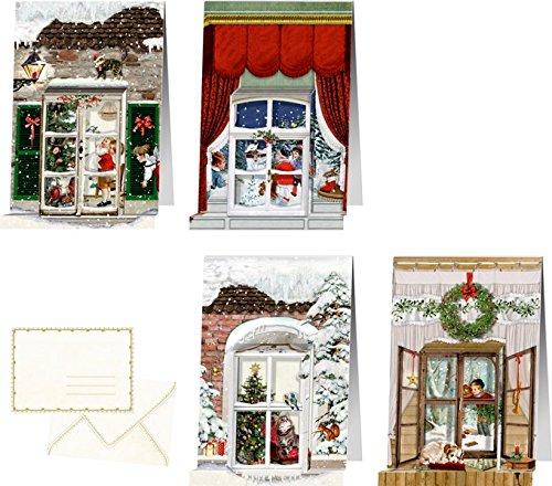 Mini-Adventskalender - Nostalgische Weihnachtsfenster