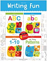 Writing Practice Boxset: Pack of 4 Books (Writing Fun: Write and Practice Capital Letters, Small Letters, Patterns and...