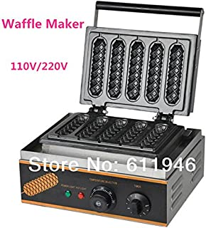 Free shipping Hot Sale 110V/220V Commercial Use Electric Lolly Waffle Maker Machine Sausage maker machine