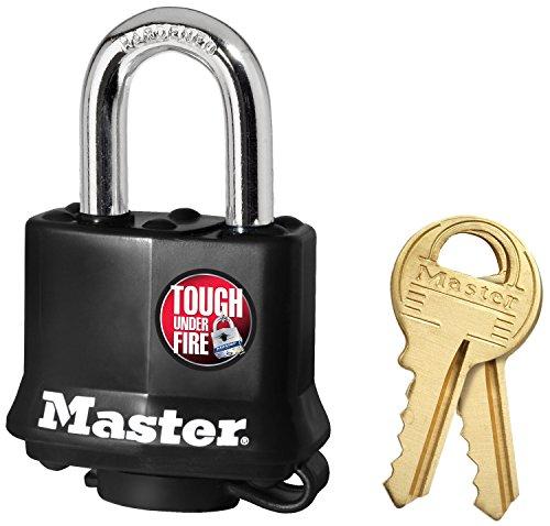 Master Lock Padlock, Covered Laminated Steel Lock, 1-9/16 in. Wide, 311D,Black