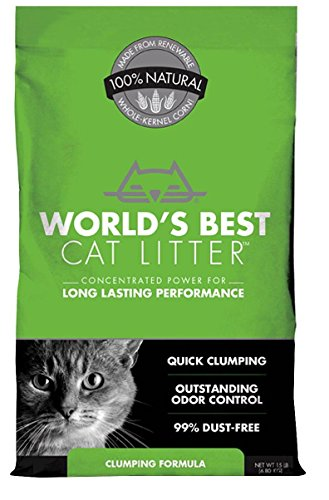 World's Best Cat Litter Clumping Formula (15 lbs - 3 Bags)