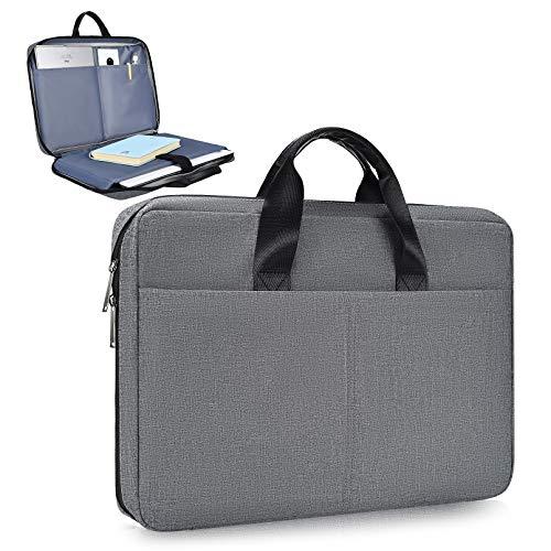 15.6 Inch Laptop Bag,Laptop Sleeve Case for HP Pavillion/HP Premium/HP Envy x360 15.6,Lenovo Ideapad 330,Lenovo Yoga 720/730 15.6,Acer Aspire 5/Acer Aspire E 15 with Handle Sleeve Bag(Space Grey)
