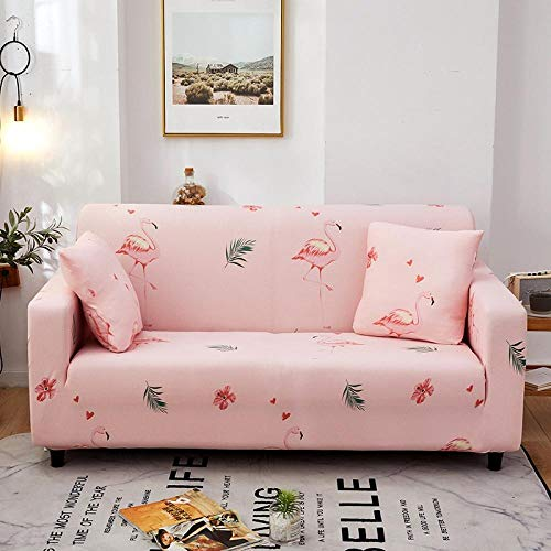 Fsogasilttlv Resistente al Polvo elástica Funda de sofá 2 plazas, Funda de sofá de Color sólido para Sala de Estar, Fundas de Streth para sofá con Funda Universal 145-185cm(1pcs)