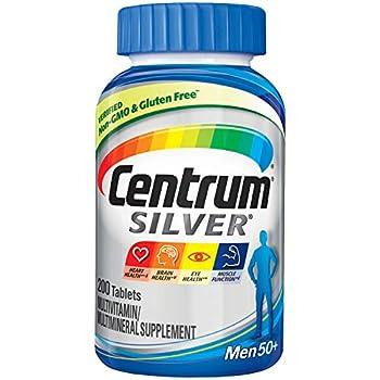 Centrum Silver Multivitamin for Men 50 Plus Multivitamin/Multimineral Supplement with Vitamin D3 B Vitamins and Zinc - 200 Count