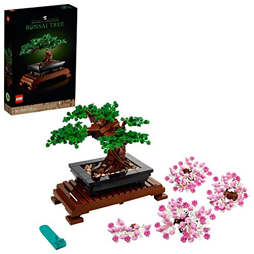 LEGO 10281 Creator Expert Bonsai Tree Set for Adults, Home Décor DIY Projects, Botanical Collection