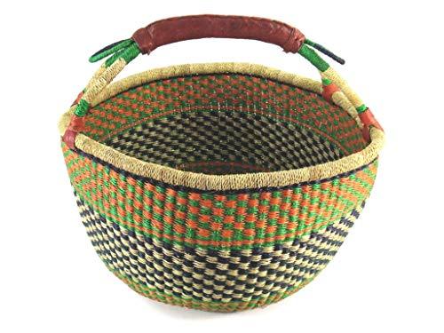 boodschappenmandje/Bolga rond mand Ø ca. 37 cm - handwerk uit Ghana - FAIR Trade