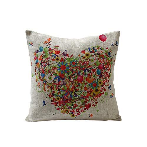 Lubier - Funda de almohada de algodón estampado de sarga para cama individual, de algodón