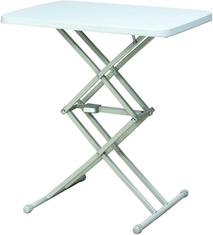 Simple White Plastic Folding Table Home Lift Portable Table Outdoor Camping Folding Table