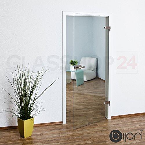 bijon® Glastür T4 | Studio/Office | 709x2077 mm | Sondermaß: 2 cm gekürzt | klar, ohne Dekor