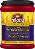 FOLGERS FLAVORS FRENCH VANILLA GROUND COFFEE 1 x 326g TUB AMERICAN IMPORT