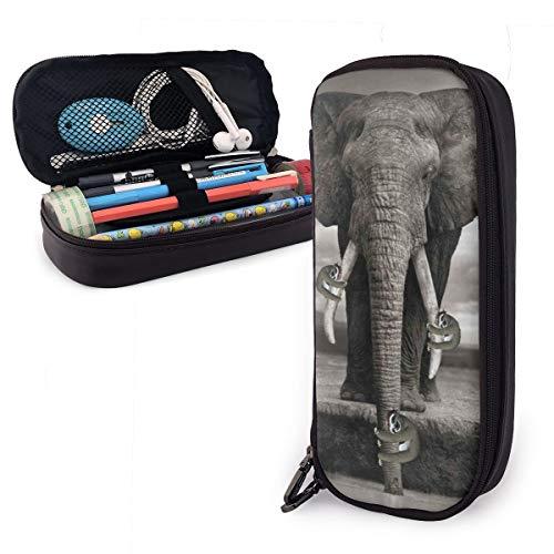Sketch - Estuche para lápices con diseño de elefante africano de Tailandia para niños y niñas, estuche grande para lápices y bolígrafos, para estudiantes, universidades, suministros escolares y oficina