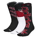 adidas Originals Calcetines para hombre mixtos con acolchado (3 pares, 3 unidades), Hombre, Calcetines Crew, 977922, Negro/Rojo Escarlata/Blanco, Large