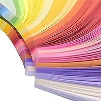 260ピース折り紙手作りDIYクラフトミックスカラースクラップブック縞模様の紙 (Kleur : 10mm 260Pcs)