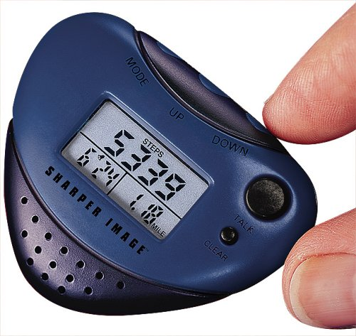 Sharper Image Talking Pedometer with Music and Clock (EB300)