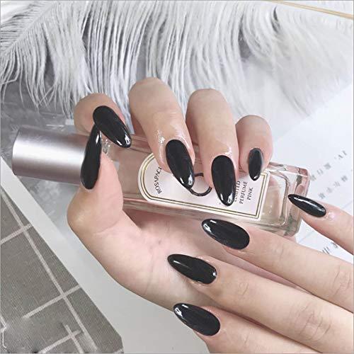 Mosako Glossy Stiletto Fake Nails Long Black Press on Nails Full Cover Acrylic False Nails for Women and Girls(24Pcs)