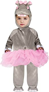 Baby Girls' Hippo Jumpsuit Costume Large (12-24 Months)