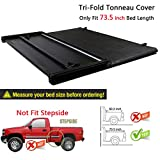 RAFTUDRIVE Assembly Lock Tri-Fold Tonneau Cover fit 2016-2019 Toyota Tacoma 6 ft (73.5 inch) Bed, Not Fit 5 Ft Bed